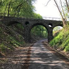 Brückenviadukt bei Bahnkilometer 11,7