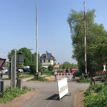 Bahnschranken am Bf Ochtendung