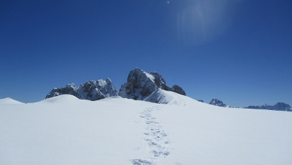 Gipfel vor der Hohen Gaisl