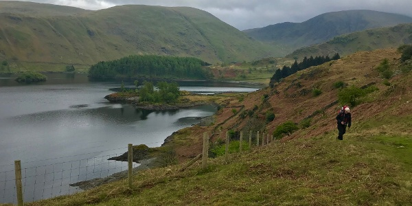 Climbing from Haweswater
