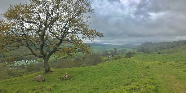 Overlooking the Swale Valley