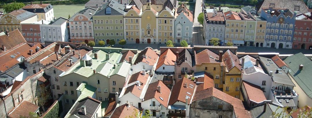 Die Altstadt von Burghausen