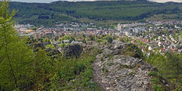 Am Aussichtspunkt Schnecklesfels