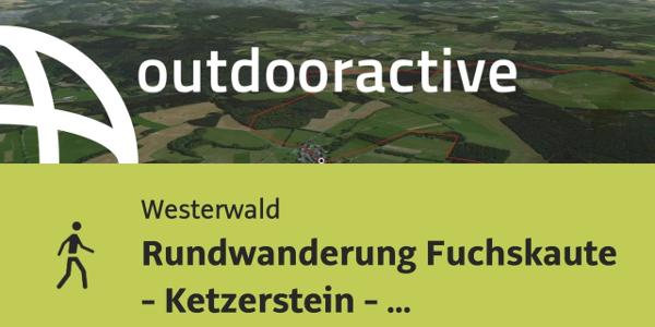 Wanderung im Westerwald: Rundwanderung Fuchskaute - Ketzerstein - Dreiländereck - Fuchskaute