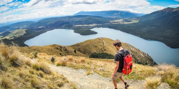 Wanderer im Nelson Lakes Nationalpark