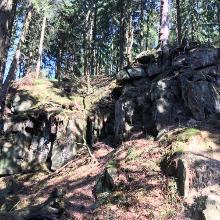 Sandsteinformationen im Silberbachtal