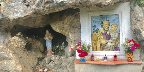 Shrine to Mary Tucked in a Cave