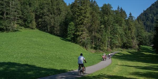 Radweg zwischen Au und Schnepfau