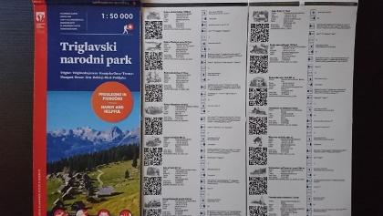 Printed map: Triglavski narodni park