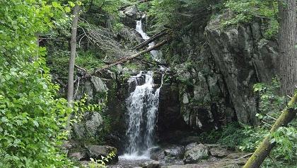 A waterfall along the Jones Run - Doyles River Loop Trail