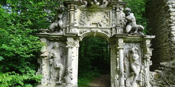 Jagdschloss Baum Renaissance-Portal Wasser