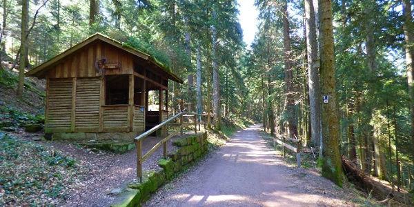 die Tannenhütte am Teuchelweg