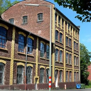 Das alte Brauhaus Weidenau, heute Atelier und Werkstatt des Fachbereichs Kunst der Uni Siegen