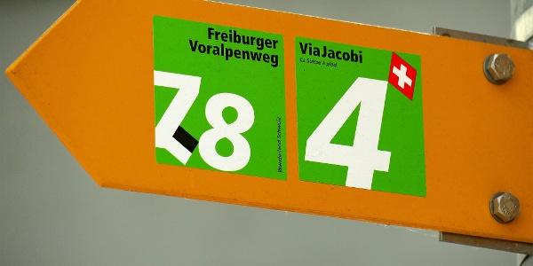Der Freiburger Voralpenweg trägt die Routen-Nr. 78.