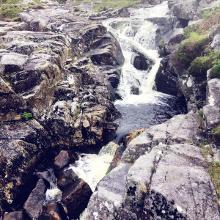 Wasserlauf und Felsen Nähe Miners Village