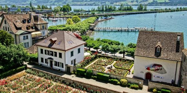 Vom Start in Rapperswil verläuft die Tour am Zürichsee entlang in Richtung Wägital.