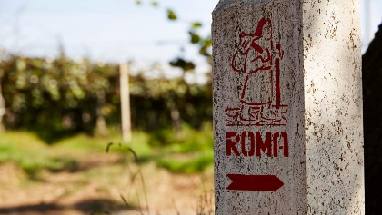 Final stage of the Via Francigena to Rome