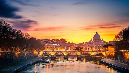 Walking into Rome
