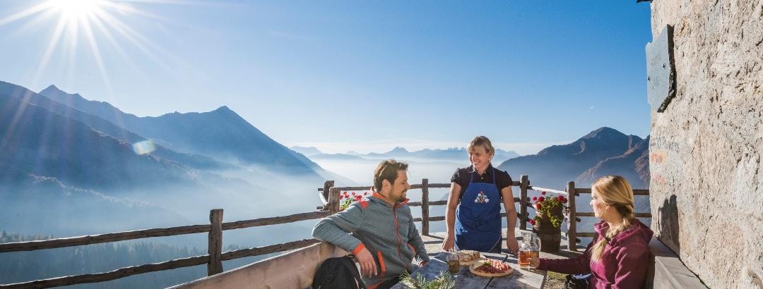 Gampiel Alm in den Pfunderer Bergen in der Ski- und Almenregion Gitschberg Jochtal
