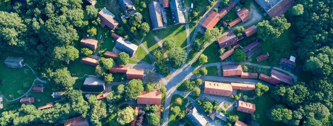 Luftaufnahme Rundling Lübeln