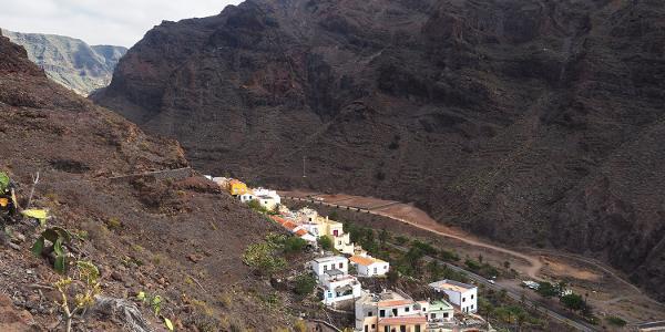 Valle Gran Rey: Camino la Mérica: La Calera Talblick