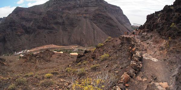 Valle Gran Rey: Camino la Merica: Blick zum Las Pilas