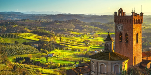 San Miniato and its surrounding countryside