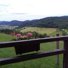 Blick vom Wanderheim Schlossberg