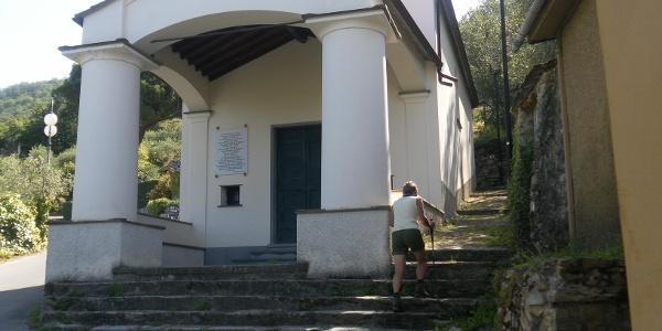 Wanderwegeinstieg bei Kapelle