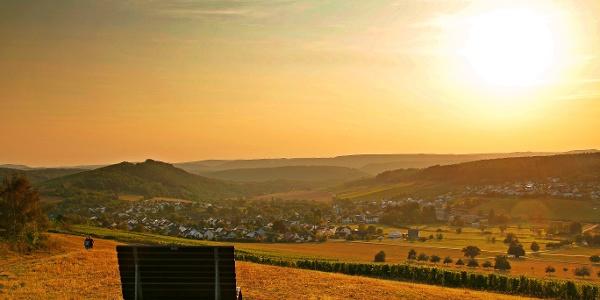 Blick ins Konzer Tälchen vom Seitensprung Karlskopf Panoramaweg