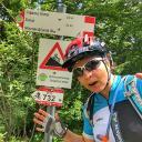 Einstieg in den Downhill nach der Nino Pernici