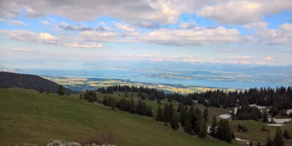 Lausanne vu de la Dôle