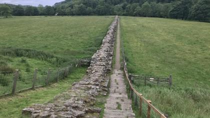 Path Directly Beside Hadrian's Wall