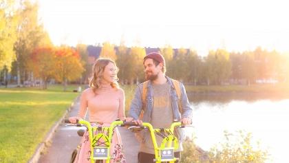 Vilkku -fillarit, City bikes of Kuopio