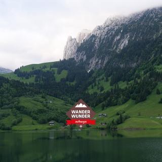 Der Wägitalersee ist umgeben von einer einzigartigen Berglandschaft.