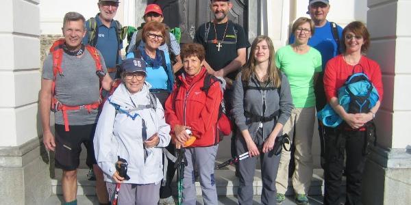 Pilgergruppe 1. Tag Kirchberg/R
