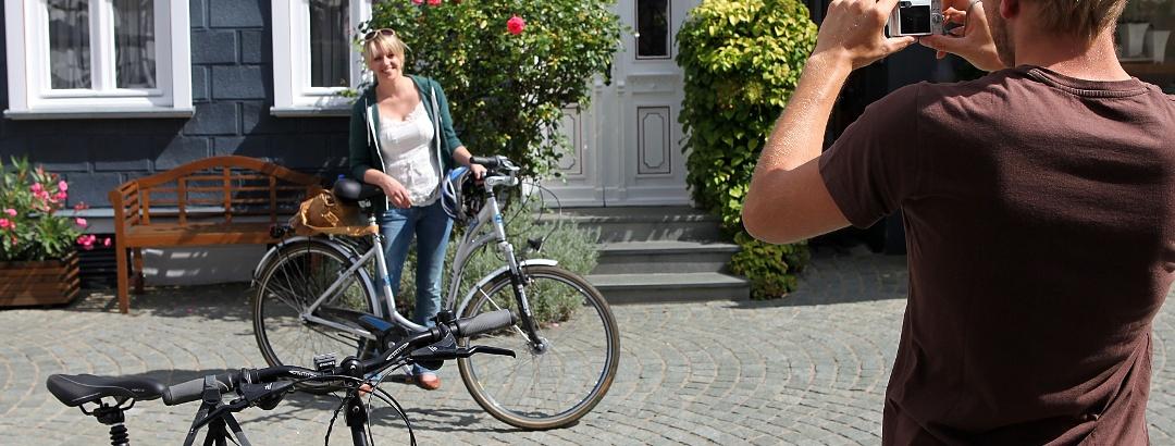 Radfahren durch die Städte im Kreis Soest