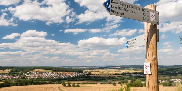 Aussicht vom Altenberg bei Lollar Richtung Norden