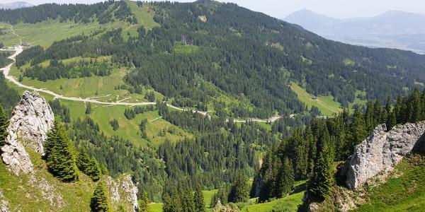 Blick auf Riedbergpass