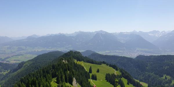 Blick ins Allgäu - Oberstdorf