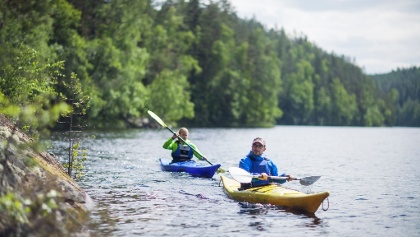 Kayaking on Lake Saimaa