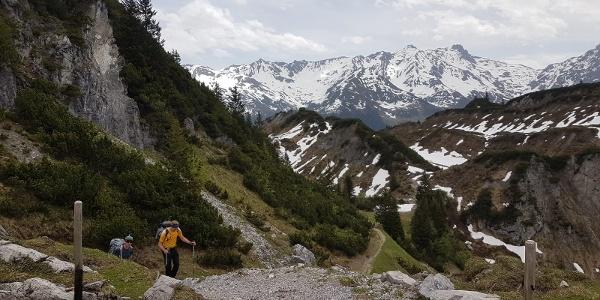Zustiegsweg kurz vor der Grabs Alpe