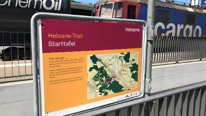 Helsana Trail Starttafel Bahnhof Bad Zurzach