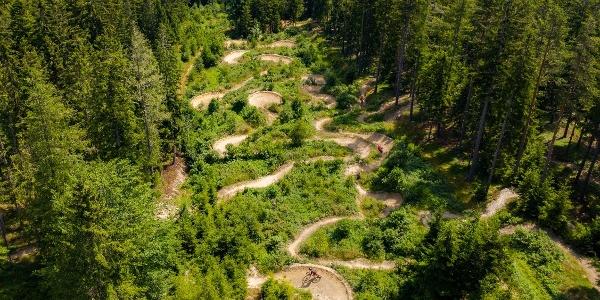 Singletrail, Uphill Flowtrail und Flowtrail auf einen Blick.