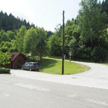 Bushaltestelle vor Altenberg - Ausgangspunkt der Tour