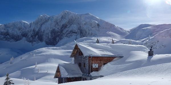 Laufener Hütte im Winter 2018/19
