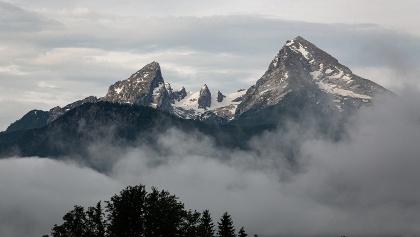 Der eindrucksvolle Watzmann hoch über dem Berchtesgadener Land