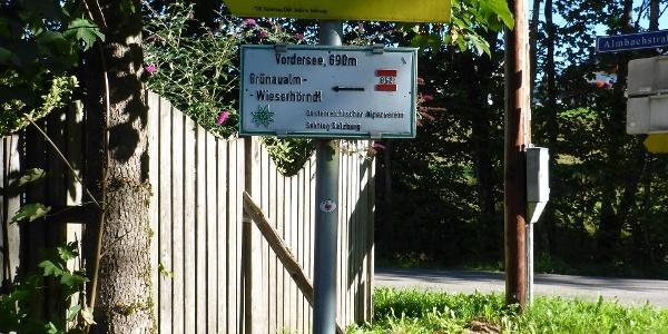 Start der Tour am alten Holzlagerplatz in Vordersee