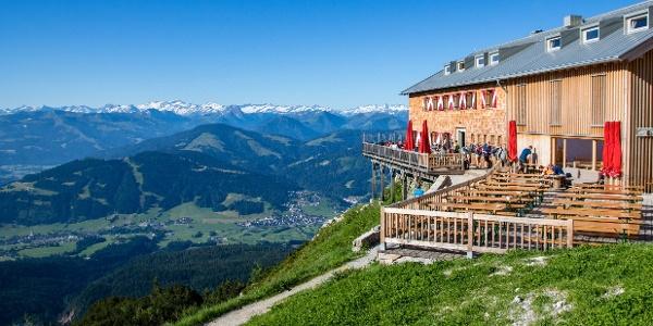 Aussicht bis zum Alpenhauptkamm