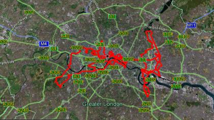 Complete Route of London Cycling
